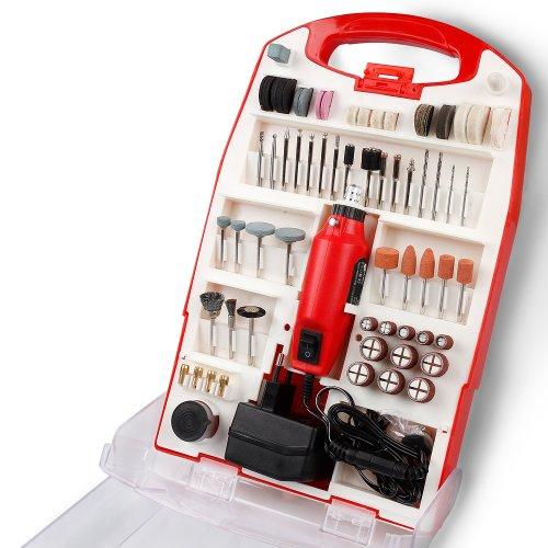 Preisvergleich Produktbild Mini-Schleifer Poliergerät 120 teilig Schleifmaschine inkl. Kunstoffbox & Adapter Fräser 12 V