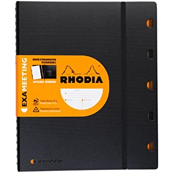 ExaMeeting RHODIACTIVE A4+ 160 pages microperforées 90g (Exabook + réglure Date/Notes/Action)