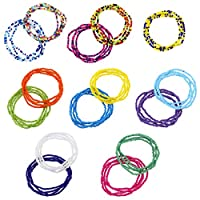 Create Idea Multilayered Belly Chain Waist 15pcs Waist Bead Set Colorful Body Chain Belly Bead Summer Bikini Jewelry for Women GirlBody Beach Jewelry 15pcs Set for Girls