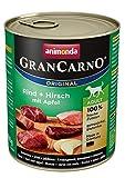 animonda GranCarno adult Hundefutter, Nassfutter für erwachsene Hunde, Rind + Kaninchen mit Kräutern, 6 x 400 g