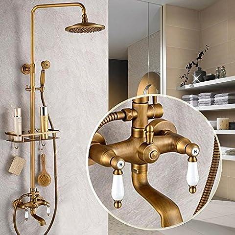 RFF-Alambre de cobre antiguo dibujo ducha de pared grifo de la ducha conjunto , 1-MEIXI&