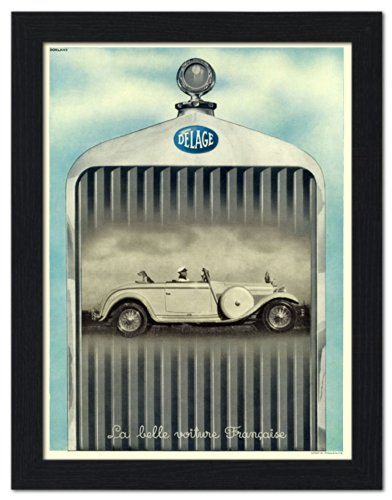 delage-french-car-advert-1930s-framed-print-32x42cm-black