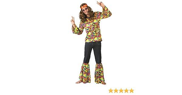 Hippie Hans Kostüm für Herren 70er Jahre Retro Motto Party Fasching Schlagermove