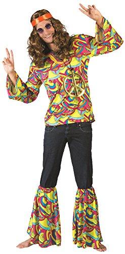 Hippie Hans Kostüm für Herren Gr. 48 ()