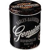 Nostalgic-Art Barattolo di Metallo per Alimenti Rotondo - Harley-Davidson Genuine Logo