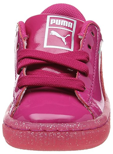 Puma Basket Patent Iced Glitter Inf, Sneakers Basses Mixte Enfant Violet (Beetroot Purple-beetroot Purple 01)