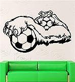 pegatinas de pared juveniles Balón de fútbol deportivo tigre mascota