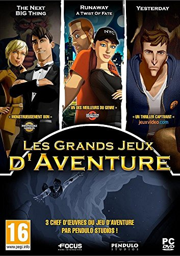 Coffret Les Grands Jeux d?Aventure - The next big thing + Runaway : a twist of fate + Yesterday