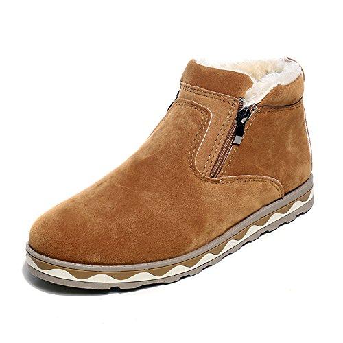 SGoodshoes Uomo Stivaletto Invernali scarponi da neve Stivaletti Sneaker Cachi 43EU
