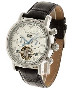 Reloj de caballero Yves Camani YC1023-B automático, correa de piel color negro de Yves Camani