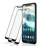 L K [2 Pack Screen Protector for Motorola One, Tempered Glass [9H Hardness] [3D Curved] [Max Coverage] Screen Protective Film - Black