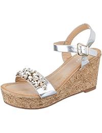 c4608774fe552 Suchergebnis auf Amazon.de für  sandaletten silber strass - Schuhe ...