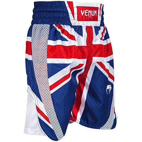 Everlast-trainings-kurze Hosen (Venum Elite UK Boxen Shorts, Blau/Rot - Weiß, M)