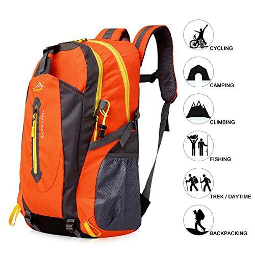 Imagen de 40l  de senderismo ligero, natuce múltiples funciones impermeable casual  camping para deporte al aire libre escalada alpinista 52 x 33 x 16 cm