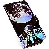 MoreChioce kompatibel mit Samsung Galaxy S7 Edge Hülle Galaxy S7 Edge Klapphülle Glitzer Paillette Flip Case Handyhülle Ledertasche Brieftasche Schutzhülle mit Kartenfach, Sternbär
