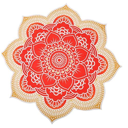 AYRSJCL indische Mandala Tapestry Blume böhmische Strandtuch Wanderung Picknickdecke Yoga-Matte