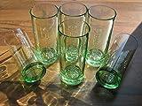 6x Bacardi Longdrinkglas grün Glas Gläser NEU OVP