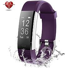 Pulsera Inteligente, NOVETE Pulsera Actividad, IP67 Impermeable Pulsera Deportiva Monitor de Ritmo Cardíaco,