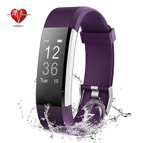 Fitness Tracker, NOVETE Fitness Armband mit Herzfrequenzmesser, Schrittzähler, Schlafmonitor, Aktivitätsmesser, Anruf/SMS Alarm, IP67-Wasserdicht, Bluetooth 4.0 und für Android sowie iOS (Amazon Fitness-tracker)