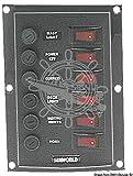 OSCULATI Tableau électrique Vertical avec 6 interrupteurs