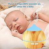 Aroma Diffuser Leise, OKELAY 250ml Luftbefeuchter Oil Düfte Humidifier Holz Ultraschall LED mit 7 Farben fürBüro/Schlafzimmer/Wohnzimmer/Arbeitszimmer/Yoga/Spa/Geschenke für Frauen - 4