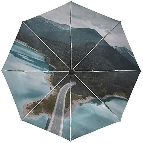 Automatische Umbrella Bridge Road Island Reisen bequem Winddicht wasserdicht schnell trocknend faltbar Auto Open Close