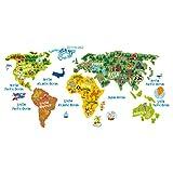 1319 Mapa del mundo para los cuartos de los ninos... - lepni.me - amazon.it