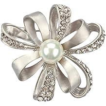 Wicemoon broche Brooch Broche con forma de flor de perla de imitación broches de presion broches para ropa mujer vintage