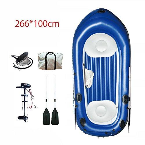Snow Island Plus 2+ 1Mann aufblasbares Kanu Kajak Schlauchboot Boot mit Doppel Paddel & Repair Kit, 279* 133cm (Plus Kanu Paddel)