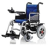 NIGHT WALL Sedia a rotelle Pieghevole a Doppia Funzione Leggera (Batteria agli ioni di Litio), Guida con Alimentazione elettrica o utilizzo Come Sedia a rotelle Manuale per disabili ed Anziani