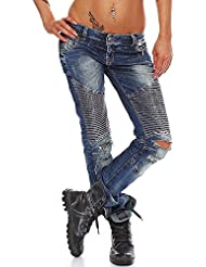 Cipo & Baxx Damen Jeans WD-167 slim fit destroyed