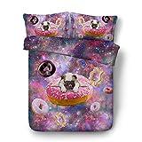 Sticker superb Galaxie Parures de Lit Fille Garçon, L'automne Hiver Coton Polyester...