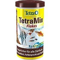 TetraMin (Hauptfutter für alle Zierfische in Flockenform, für ein langes und gesundes Fischleben und klares Wasser, plus Präbiotika für verbesserte Körperfunktionen und Futterverwertung), 1 Liter Dose