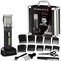 Remington Haarschneider Genius HC5810, selbstschärfende Keramikklingen, 10 Aufsteckkämme, schwarz