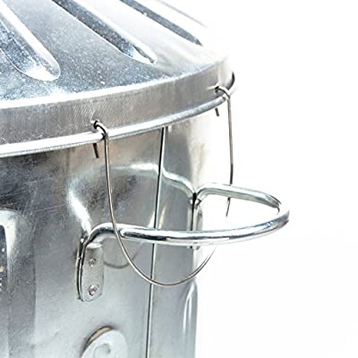 CrazyGadget Small Medium Large Extra Large Galvanised Metal Incinerator Fire Burning Bin with Special Locking Lid