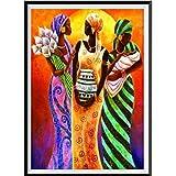 Riou DIY 5D Diamant Painting Voll,Stickerei Malerei Crystal Strass Stickerei Bilder Kunst Handwerk für Home Wand Decor Gemälde Kreuzstich Drei Frauen Bild Muster (Mehrfarbig, 30x40cm)