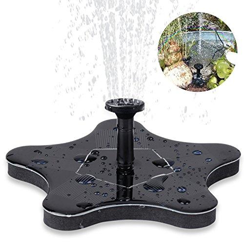Solar Springbrunnen, innislink Solar Teichpumpe Pumpe Springbrunnen Solar Schwimmender mit 1.4W Monokristalline Wasserpumpe Fontäne Pumpe für Gartenteiche, Fisch-Behälter, Vogel-Bad und kleiner Teich