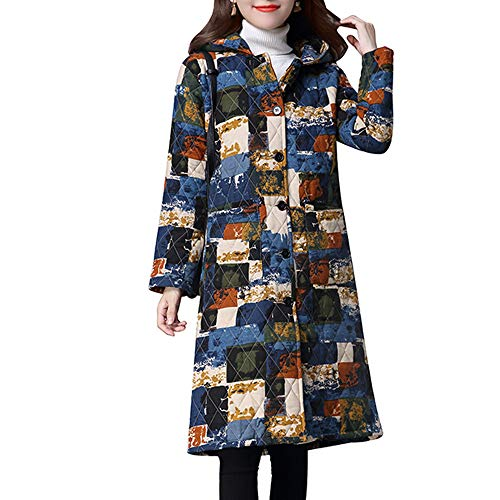 Subfamily Steppjacke FüR Damen Oberbekleidung Women Plus Size Wintermantel Padded Jacke Long Parka GroßE GrößE Ethnischen Stil Gepolstert Mantel Baumwolle Mit Leinen Kapuzenjacke Outwear