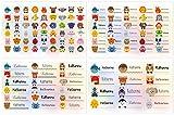 Kigima 114 Aufkleber Sticker Namens-Etiketten rechteckig Katharina Verschiedene Größen und Tiermotive