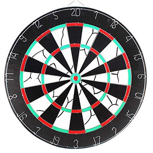 Chengzuoqing Dart für Kinder Doppelseitige beflockte Dartscheibe mit einem Durchmesser von 45 Zentimetern (18 Zoll). Enthält 6 Messingpfeile und EIN Cricket-Anzeigeset Indoor- und Outdoor-Spiele