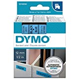 Dymo S0720560 D1-Etiketten (Selbstklebend, für den Drucker LabelManager, 12 mm x 7 m Rolle) Schwarz auf Blau
