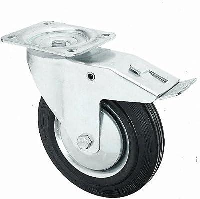 4 Stück Transportrollen lenkbar 100mm Gummibereifung Lenk/FS von DELEX-Rollen auf Du und dein Garten