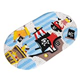 Top-Spring Non-slip Bath Mat Anti-slip Shower Bathtub Mat 39×69cm (Pirate Ship)