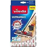 Vileda 4023103201262 Ultra Max Recharge 2en1 Microfibre, Polyester, Blanc et Rouge, 46 x 14,1 x 1,5 cm