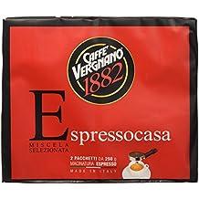 Caffè Vergnano 1882 Espresso Casa, 2x250 gr - 2 Pacchetti - Casa Casa Miscela Di Caffè