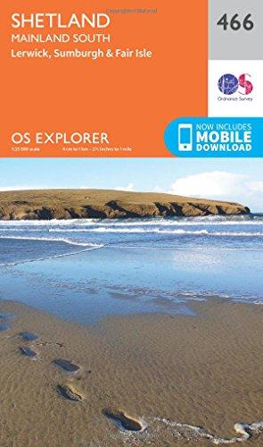 os-explorer-map-466-shetland-mainland-south