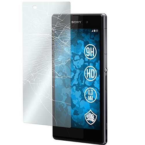 PhoneNatic 2 x Glas-Folie klar kompatibel mit Sony Xperia Z1 - Panzerglas für Xperia Z1