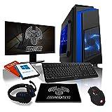 AWD-IT Ensemble Gaming PC - Processeur AMD A10 9700 à 4 cœurs • Écran LED 24'...