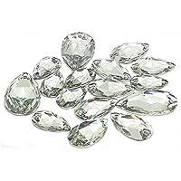 Cristales de resina con forma de lágrimas, de la marca Eimass, para coser o pegar, 50 unidades