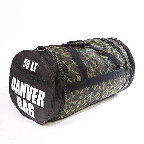 Danver Total - Bolsa de Deporte Unisex, Adulto, de Camuflaje, Unisex Adulto, Total Camouflage, Verde Mimetico,...